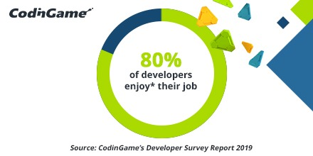 Developer statistic: developers love what they do