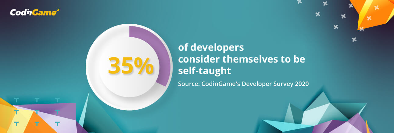 1 in 3 developers consider themselves to be self-taught
