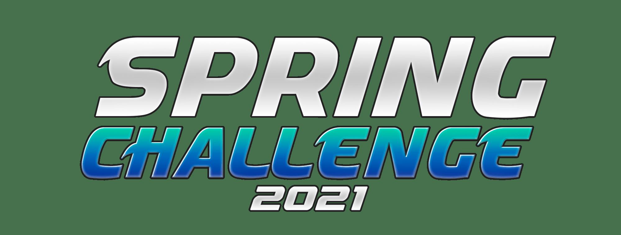 Spring challenge 2021 blue logo